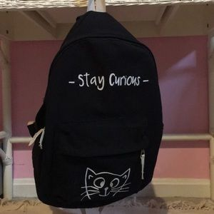 Stay curious Cat small backpack